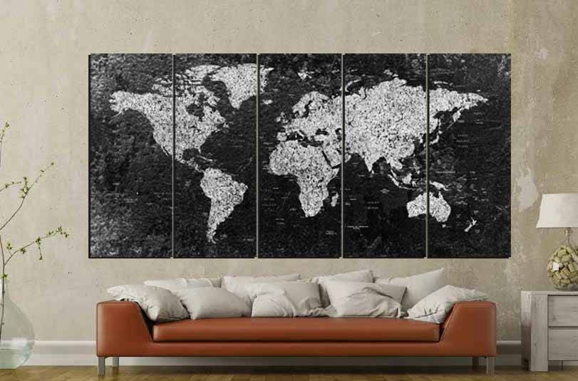 World map large black and white world mapworld map canvas world map large black and white world mapworld map canvas abstract world map world map wall artworld map art black and white map art gumiabroncs Gallery