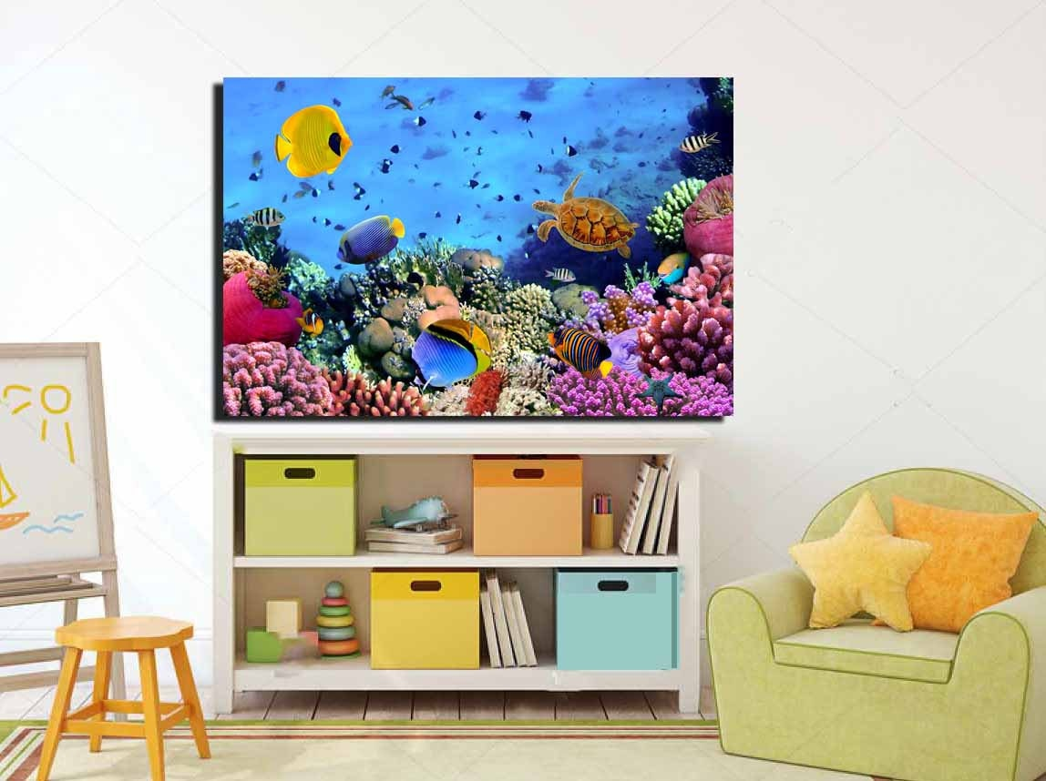 Magnificent Kids Room Wall Art Coral Nursery Room Art Coral Kids Room Gmtry Best Dining Table And Chair Ideas Images Gmtryco