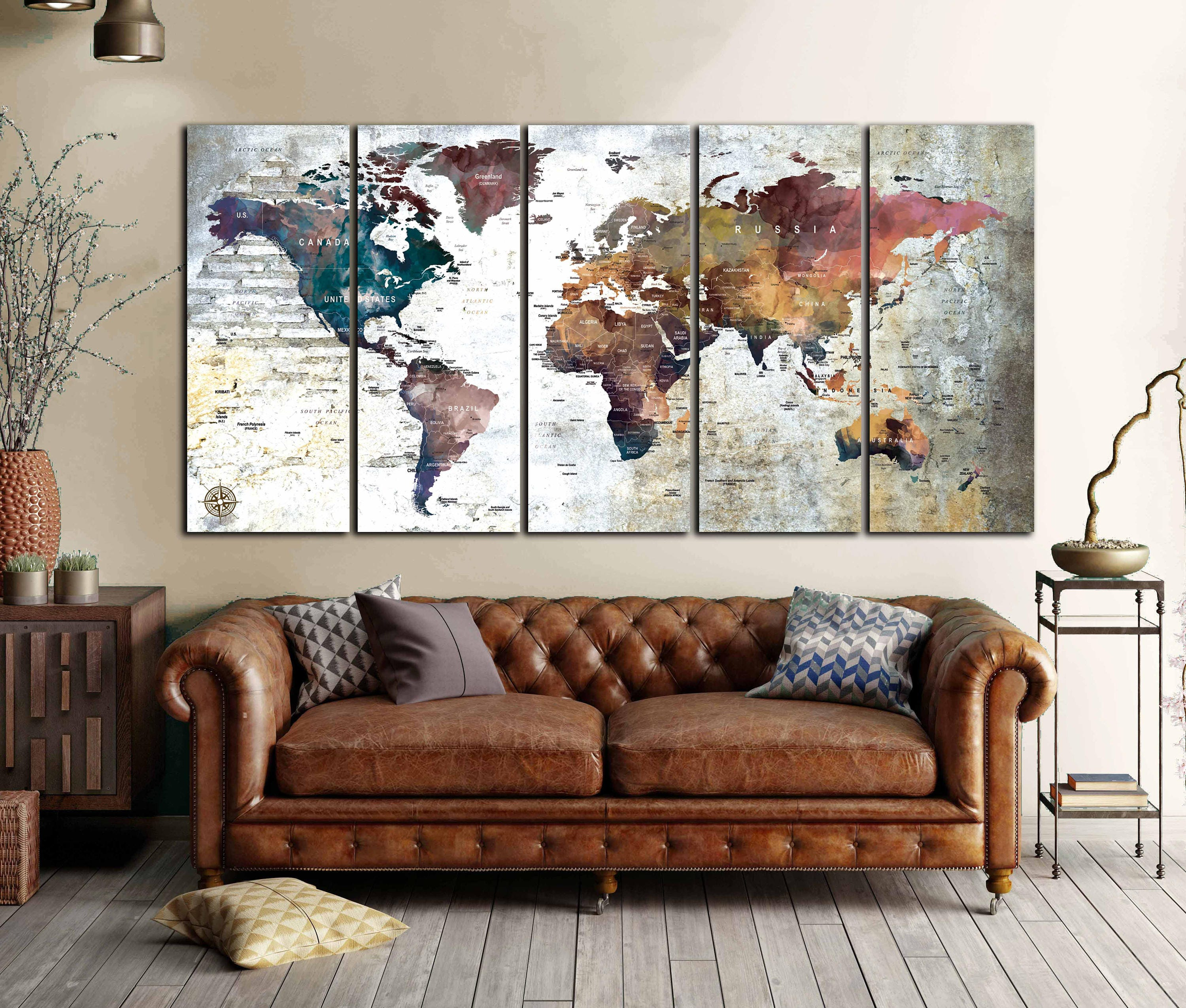 Large world map canvas panelsworld map wall artworld map art large world map canvas panelsworld map wall artworld map artworld map printworld map canvasworld map abstract artworld map vintage gumiabroncs Image collections