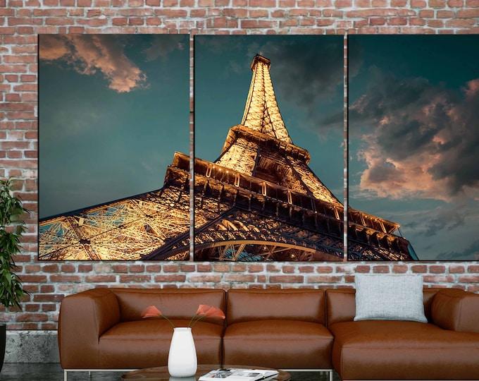 Paris Eiffel Tower Art,Eiffel Tower Wall Art,Eiffel Tower Canvas Art,Eiffel Tower Canvas Print,Eiffel Tower decor,Paris Eiffel Tower Canvas