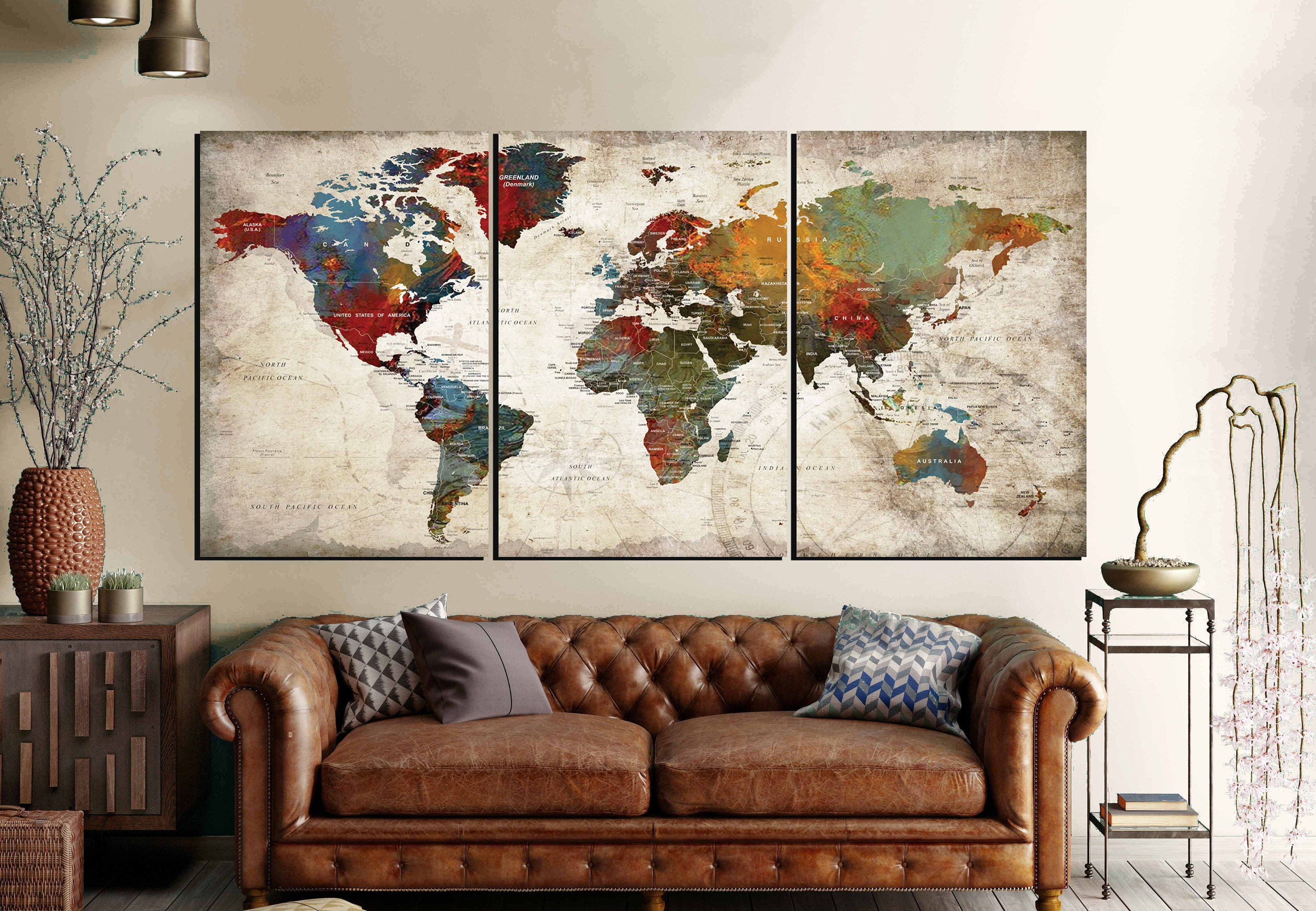 World map wall art 3 panel canvas artworld map large canvas panels world map wall art 3 panel canvas artworld map large canvas panelsworld map artworld map canvasworld map abstract artworld map push pin gumiabroncs Gallery