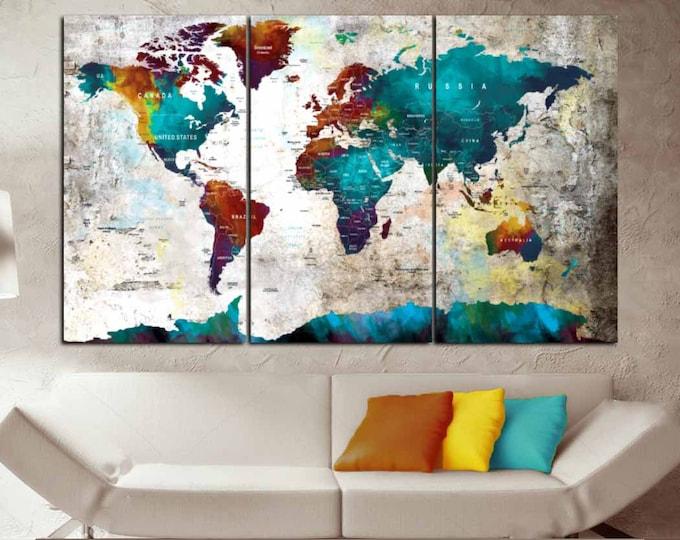 Large World Map Wall Art,World Map,World Map Wall Art,World Mao Canvas,World Map Push Pin,World Map Watercolor,World Map Vintage,World Map