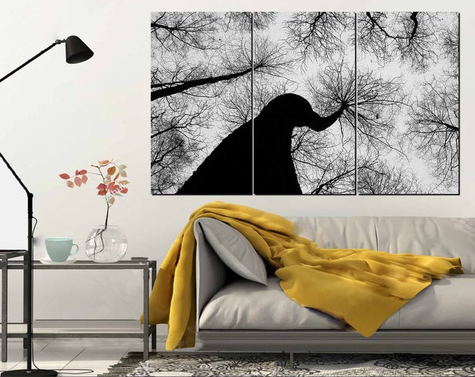 Dry Trees Wall Art,Black and White Trees,Large Wall Art, Perspective Trees,Black and White Canvas Art,Tree Wall Art,Black and white Wall Art