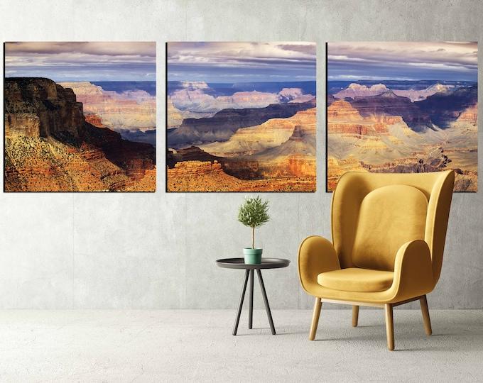 Grand canyon wall art canvas print ready to hang, large grand canyon art ready to hang, grand canyon panoramic photo print large canvas art