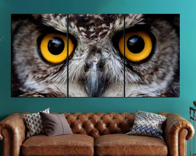 Owl Wall Art 3 Canvas Panels,Owl Art,Owl Wall Art,Owl Wall Decor,Owl Eyes Wall Art,Owl Eyes Art Print,Owl Canvas Art,Owl Canvas Print,Owl