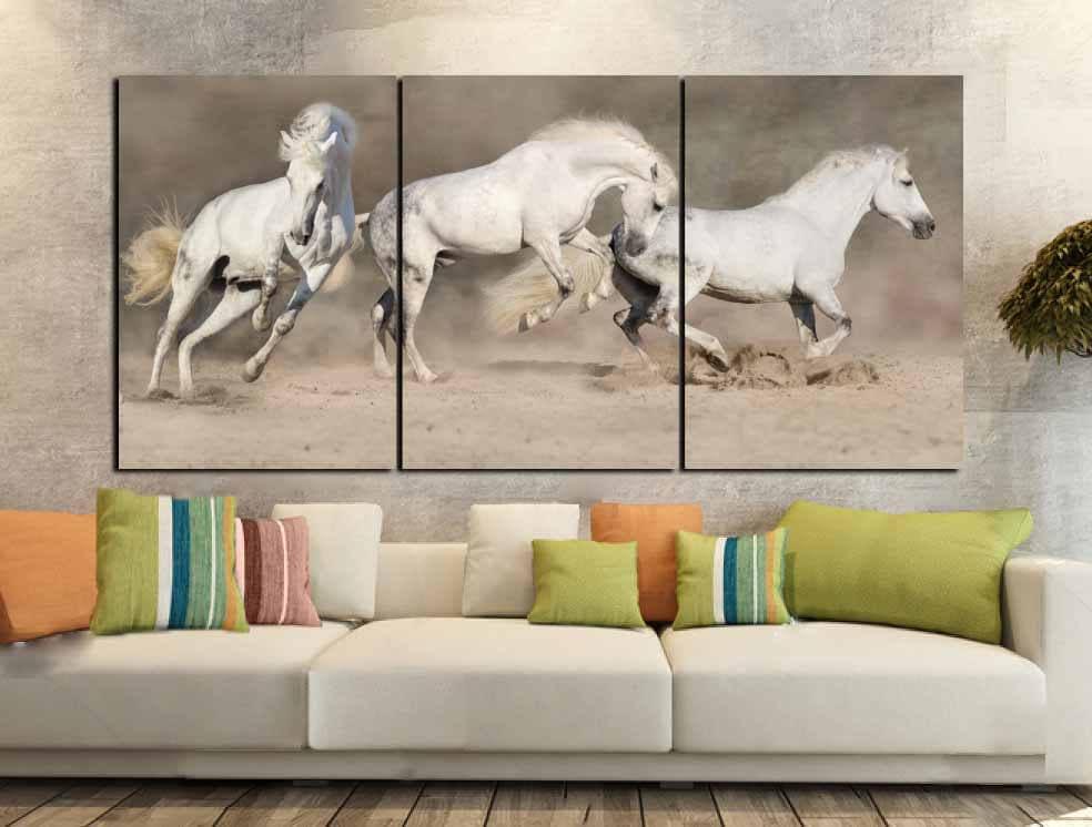 Horse Wall Art,Horse Canvas Art,Running Horses,Running Horses Art ...