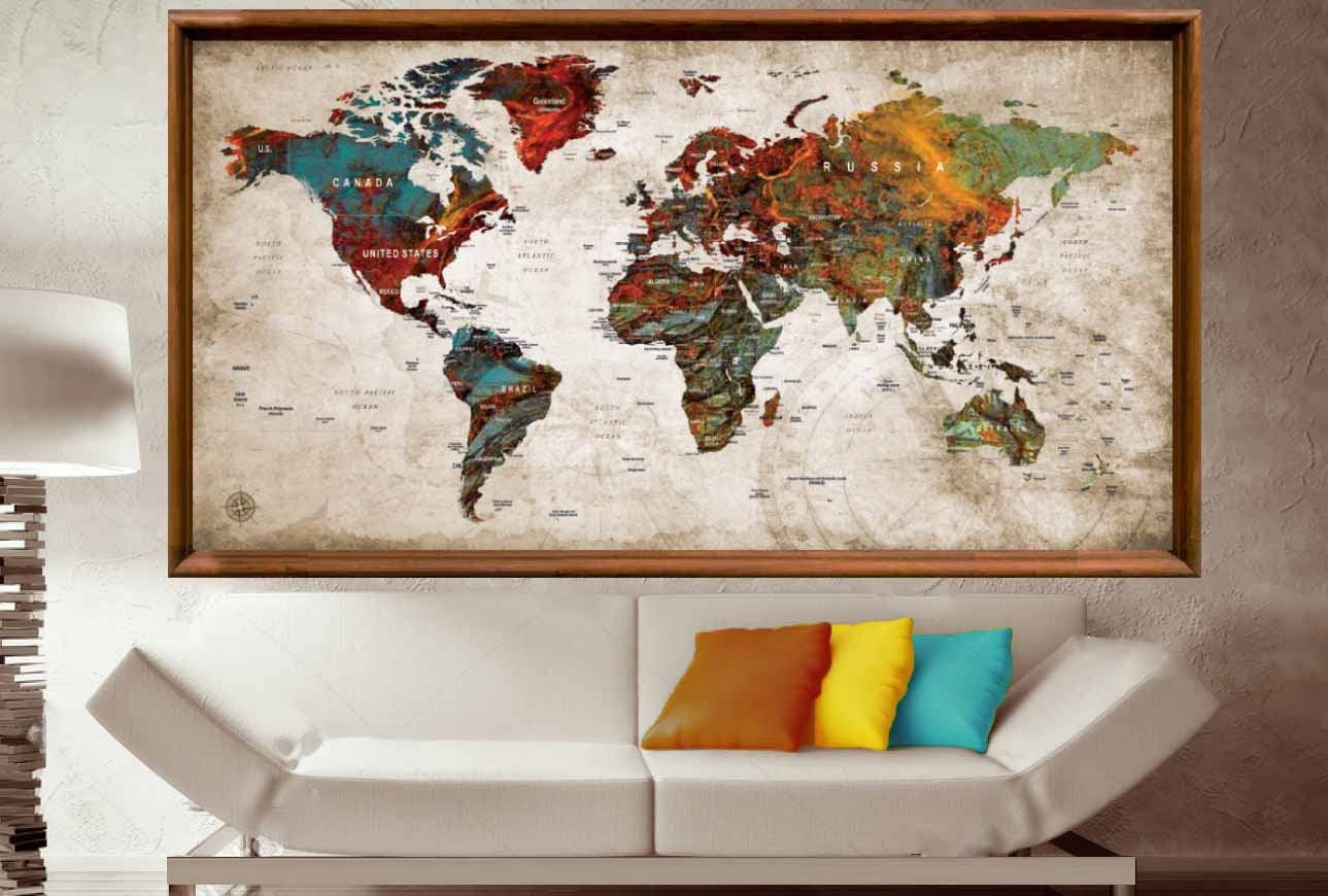 Large world map posterworld map wall artworld map push pinpush large world map posterworld map wall artworld map push pinpush pin map arttravel map posterpush pin map posterworld map decalabstract gumiabroncs Images