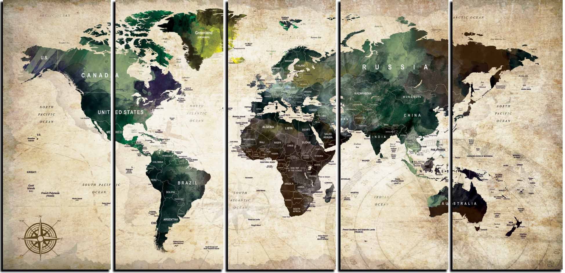 World mapworld map wall artworld map canvas artpush pin map gallery photo gallery photo gumiabroncs Gallery