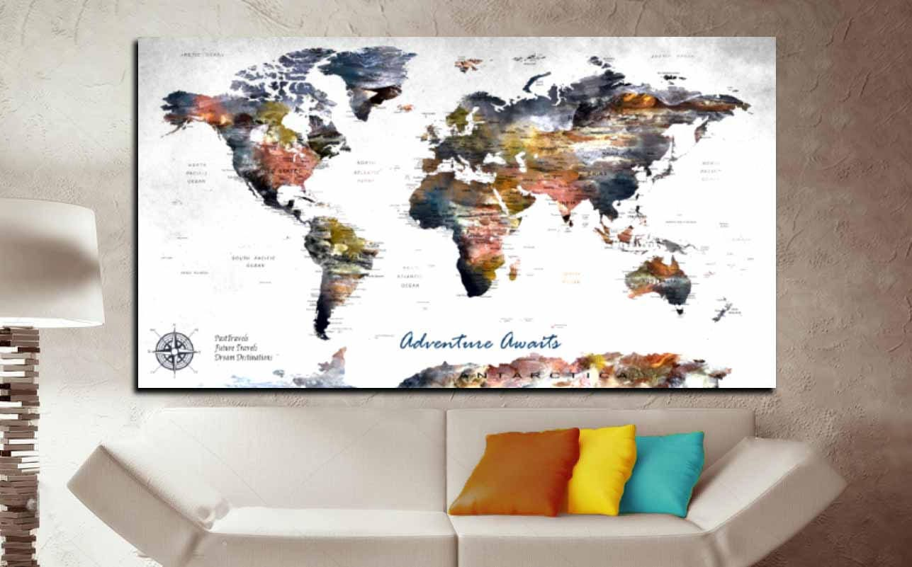 Highly detailed push pin map canvas printpush pin map large canvas world mapcustom travel map canvas gallery photo gallery photo gallery photo gallery photo gumiabroncs Images