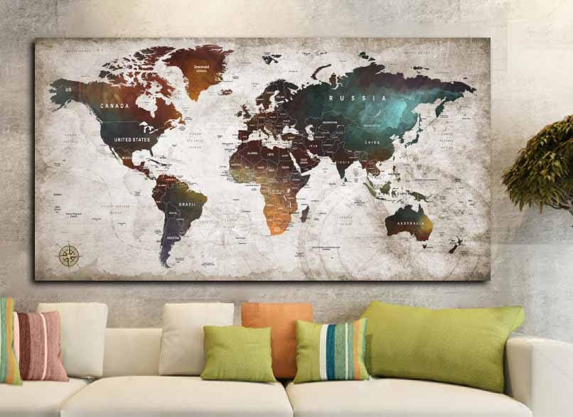 World map posterworld map decalworld map canvas panelworld map world map posterworld map decalworld map canvas panelworld map printworld map artworld map wall artpush pin map postertravel map art gumiabroncs Choice Image