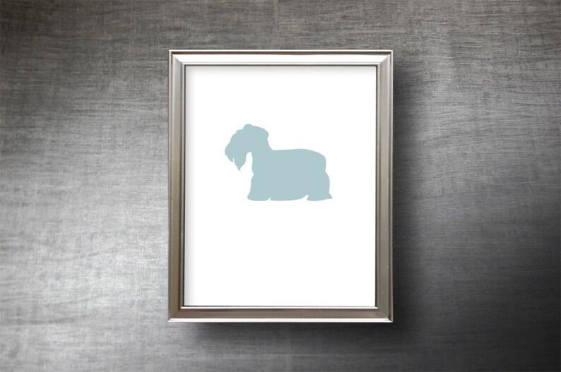 Die Cut Cesky Terrier Print Cesky Terrier Silhouette Gift Personalized Option Cesky Terrier Art UNFRAMED