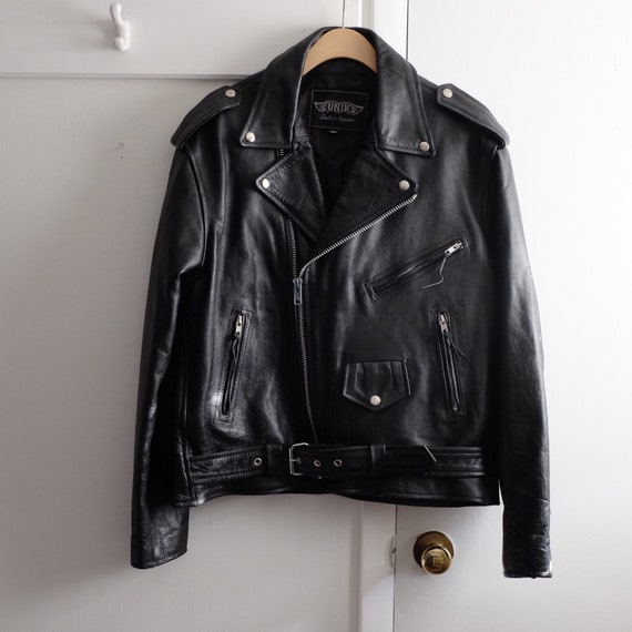 Men's Leather Biker Jacket (46)