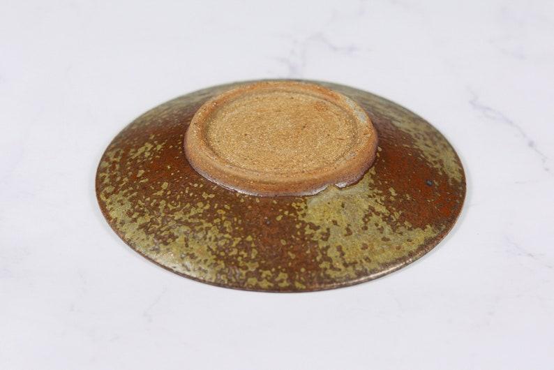 Handmade Ceramic Platter SMALL CENTERPIECE GEODE Plate Copper: Fused Glass Platter Dock 6 Pottery #G162 Ceramic Centerpiece