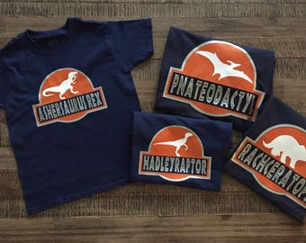 More Colors Group Price Family Jurassic Dinosaur Inspired Universal Studios Shirts