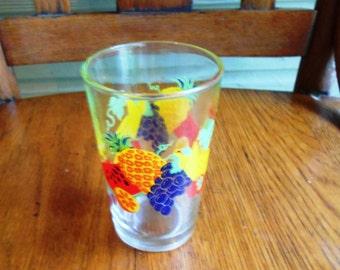 Fruity 1950's Fruit Juice Glass