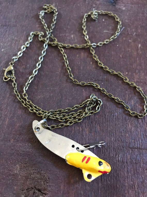 Anitique Fishing Lure Necklace