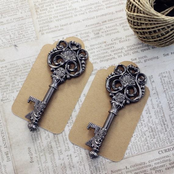 Black Openers Pcs Bottle Scroll With Lis Victorian Leaf 50 De Keys Medieval Key Vintage Gunmetal Skeleton Fleur Swirl Design 80wOXPnk