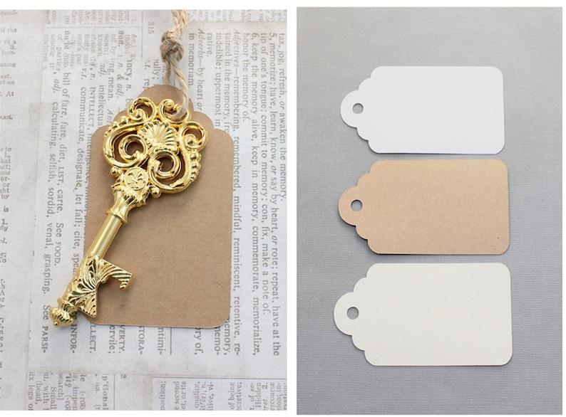 50 pcs Skeleton Keys bottle openers Medieval Victorian Leaf Scroll Vintage  Keys with Swirl Design Fleur De Lis Key Goldplate Double sided