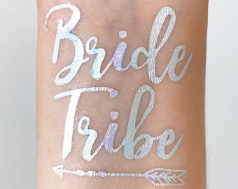 BRIDE TRIBE Holographic Temporary Tattoos