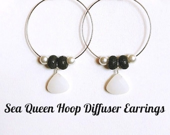 Sea Queen  Hoop Diffuser Earrings
