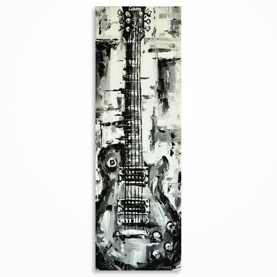 Guitar Painting Guitar Wall Art Music Art Gift For A Musician Guitar Art Original Les Paul Guitar Art On Canvas Made To Order