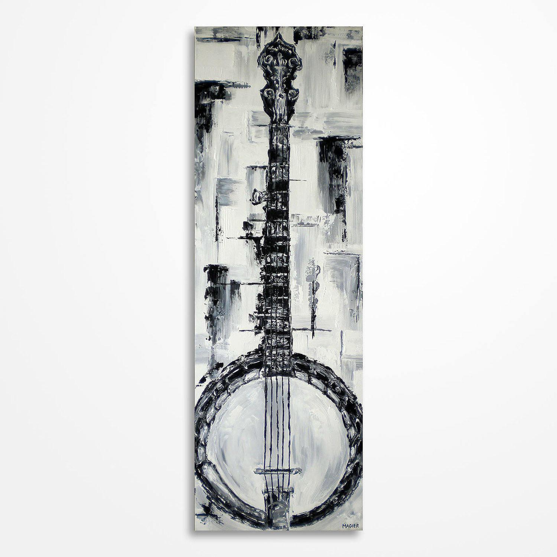 peinture de banjo musique art cadeau pour un musicien etsy. Black Bedroom Furniture Sets. Home Design Ideas