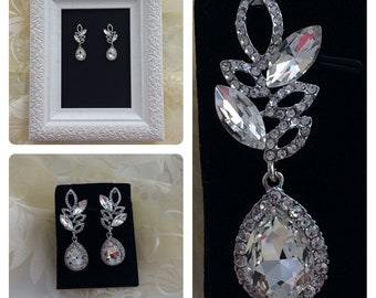 Silver Bridal Earrings, crystal wedding earrings, mother of the bride/groom, veil,gown,gift, Swarovski Crystal, Cubic Zirconia earrings,stud