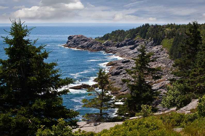 Landscape Photography  Coastal Ocean View Monhegan Island image 0