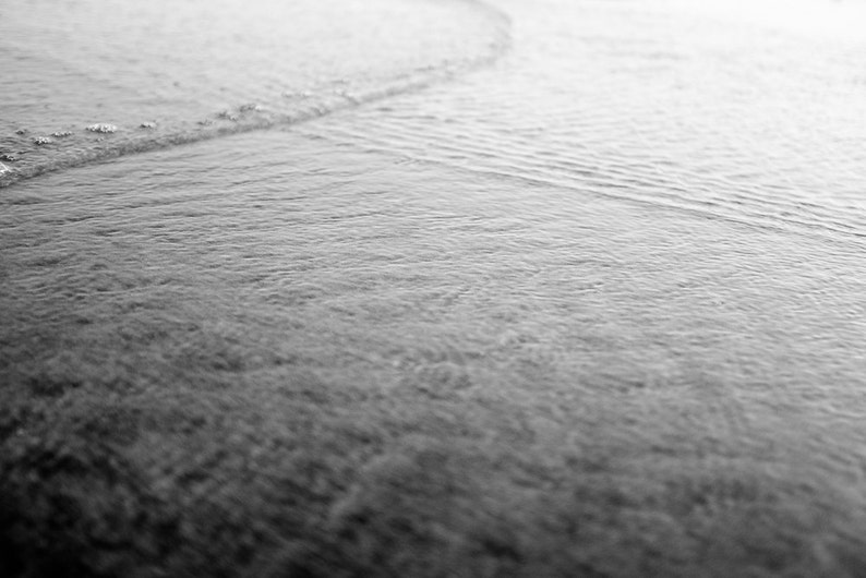 Ocean Waves 7   Photography  NJ   Black and White image 0