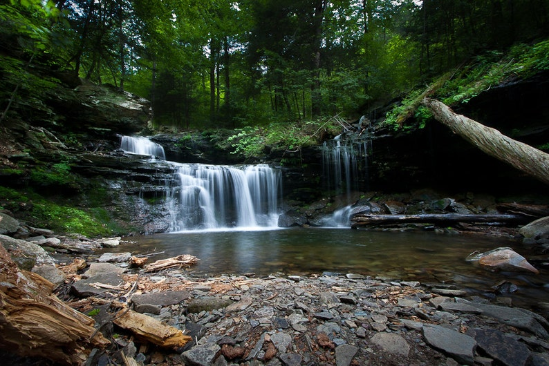 Landscape Photography  Waterfall in the woods  rocks stream image 0