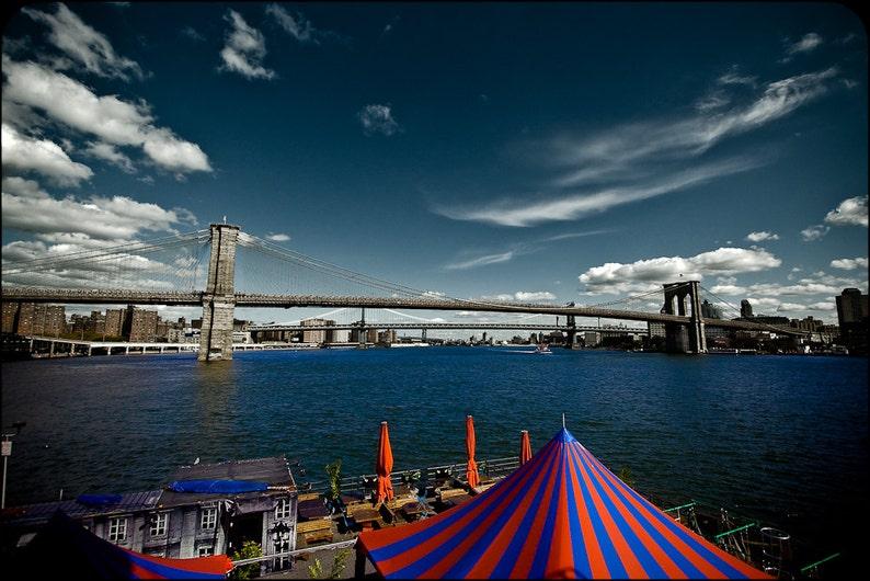 Cityscape Photography  Brooklyn Bridge New York   8x12 image 0
