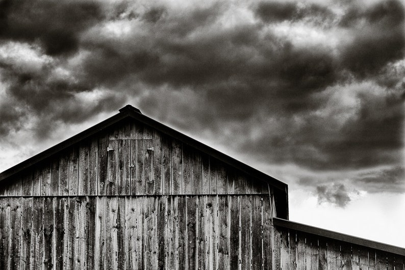 Rural Photography  Solebury Orchards Barn Black and White image 0