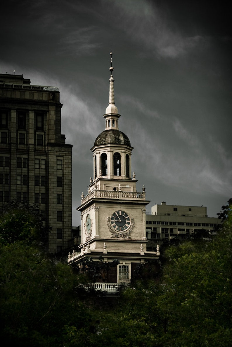 Cityscape Photography  Independence Hall Philadelphia   8x12 image 0