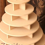 Cupcake Stand  6 Tier Round 180 Cupcakes with Threaded Rod & Freestanding Style MDF Wood Birthday Stand Wedding Stand Unpainted DIY Project