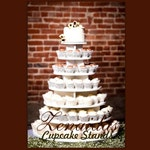 Cupcake Stand  7 Tier Round 200 Cupcakes with Threaded Rod & Freestanding Style MDF Wood Birthday Stand Wedding Stand Unpainted DIY Project