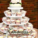 """Cupcake Stand 5 Tier 150 Cupcakes Threaded Rod and Freestanding Style MDF Wood """"Unpainted"""" DIY Project Birthday Stand Wedding Stand"""