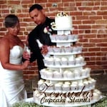 Cupcake Stand  7 Tier Round 200 Cupcakes Unpainted DIY Project MDF WoodCupcake Tower Birthday Stand Wedding Stand