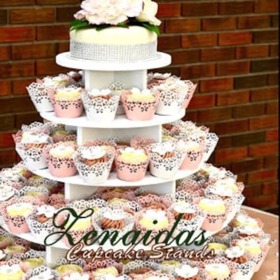 Cupcake Stand White Melamine Round XLarge Wedding Birthday Donut Stand