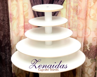 Cupcake Stand White Melamine 5 Tier 150 Cupcakes Donut Stand Wood Cupcake Tower Wedding Stand Birthday Stand Display Stand