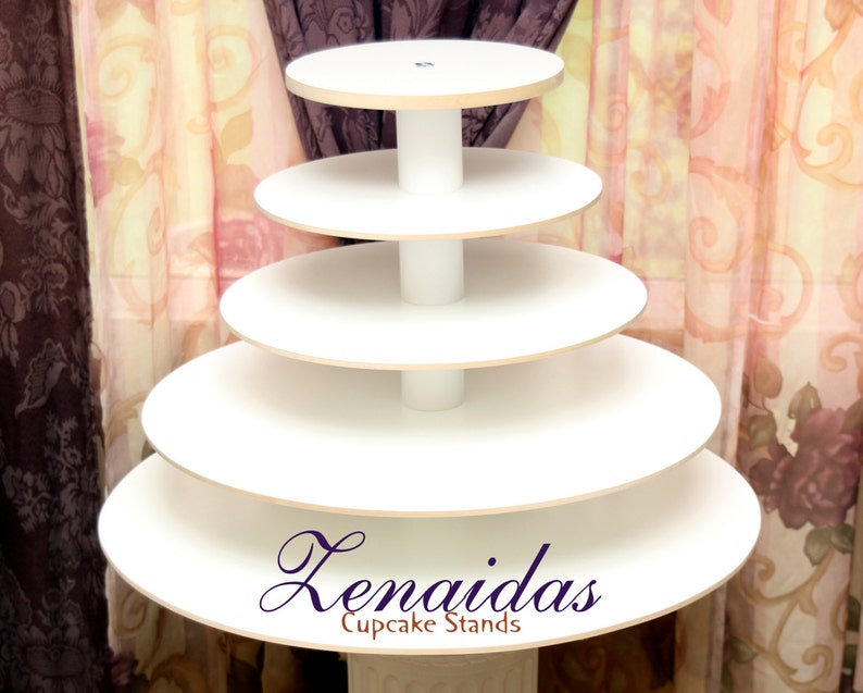 Cupcake Stand White Melamine 5 Tier 150 Cupcakes Donut Stand image 0