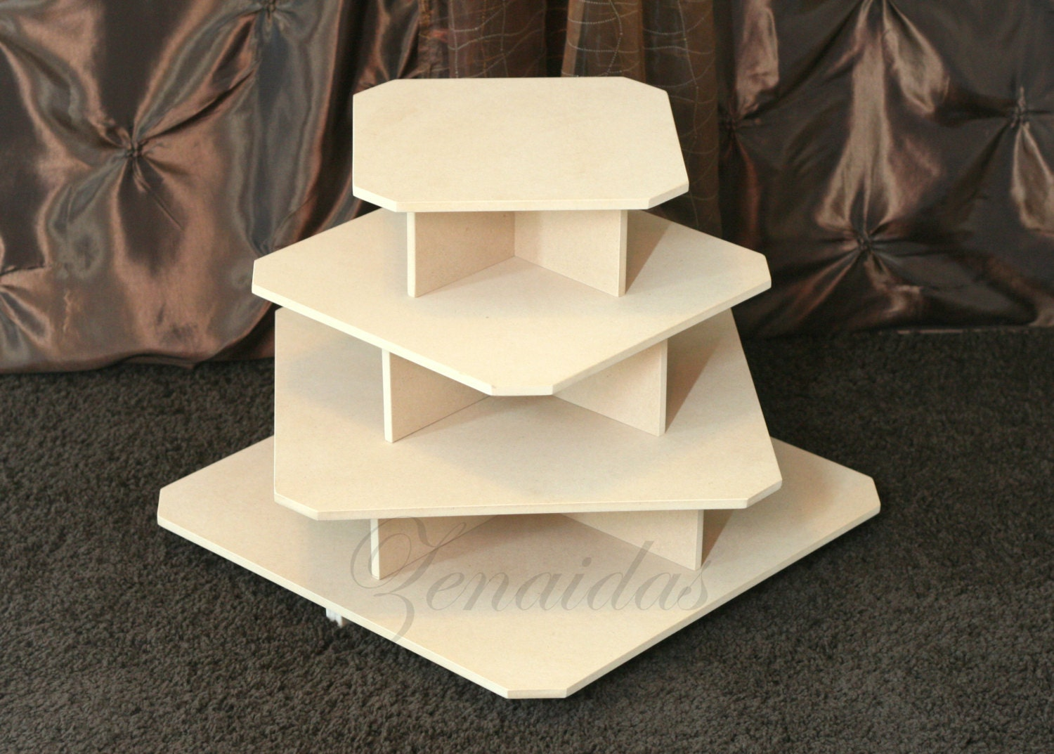Cupcake Stand 4 Tier Square Mdf Wood 65 Cupcake Tower