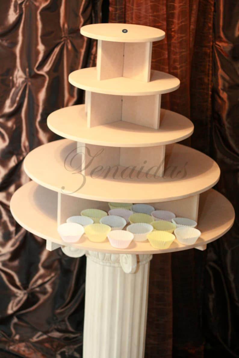 Cupcake Stand Large Round 150 Cupcakes Threaded Rod and image 0