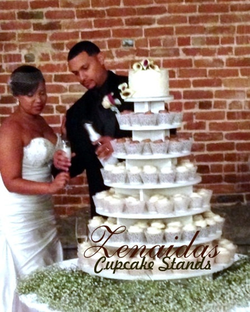 Cupcake Stand  7 Tier Round 200 Cupcakes Unpainted DIY Project image 0