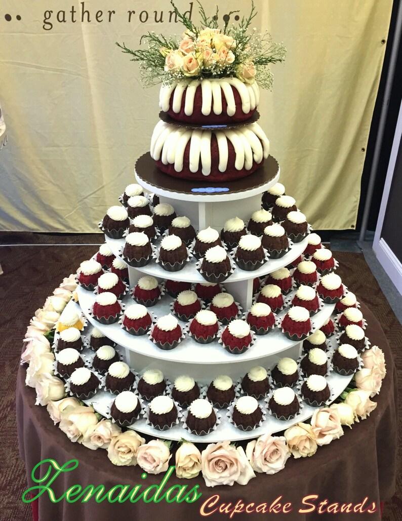 Cupcake Stand White Melamine Round XLarge Wedding Birthday image 0
