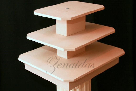 Rectangle Cupcake Stand 3 Tier Mdf Wood Cupcake Tower Display Stand Birthday Stand Wedding Stand Diy Project