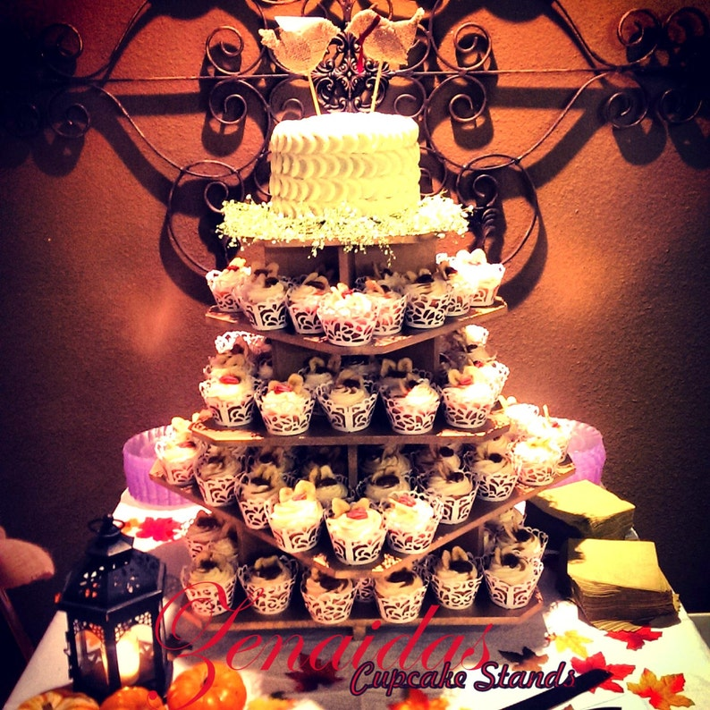Cupcake Stand 5 Tier 100 Cupcakes Threaded Rod and image 0