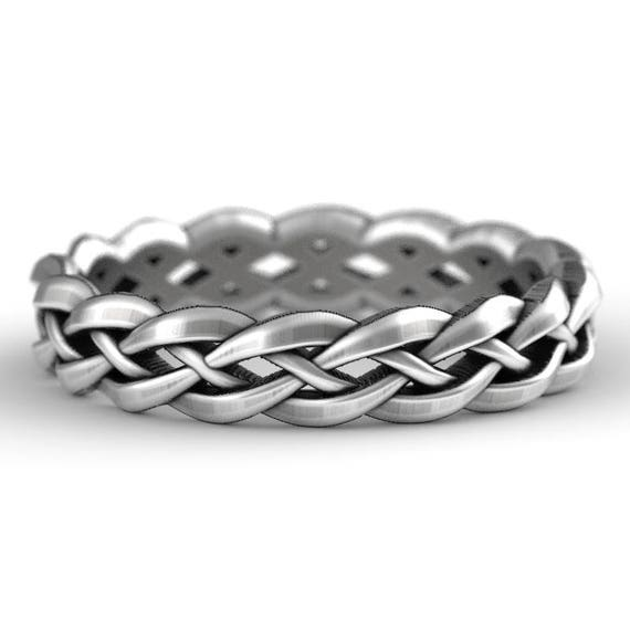 Sterling Silver Celtic Knot Ring, Unique Wedding Band, Wedding Band Men, Celtic Wedding, Celtic Eternity Ring,  Made in Your Size 1195