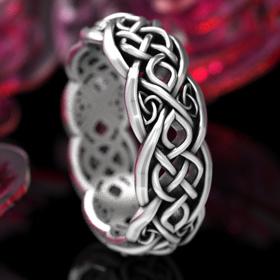Infinity Wedding Band, Celtic Knot Ring, Celtic Wedding Ring, Celtic Wedding Band, Sterling Celtic Ring Handcrafted Ring in Your Size CR1052
