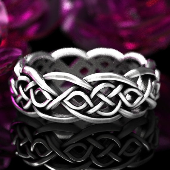 Celtic Ring, Silver Wedding Ring, Celtic Knot Ring, Celtic Wedding Ring, Irish Wedding Ring, Silver Celtic Ring, Infinity Wedding Ring 1051