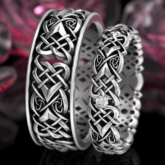 925 Sterling Silver Ring Celtic Knot Heart Band Eternity Dainty Size M-V ½